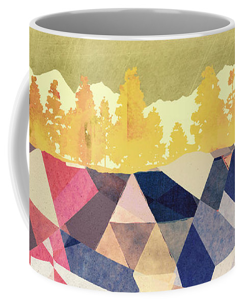 Fall Coffee Mug featuring the digital art Fall Afternoon Light by Spacefrog Designs