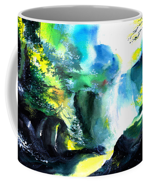 Nature Coffee Mug featuring the painting Fall by Anil Nene