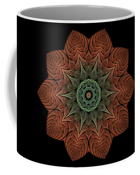 Coffee Mug featuring the digital art Fall Blossom Zxk-4310-2a by Doug Morgan