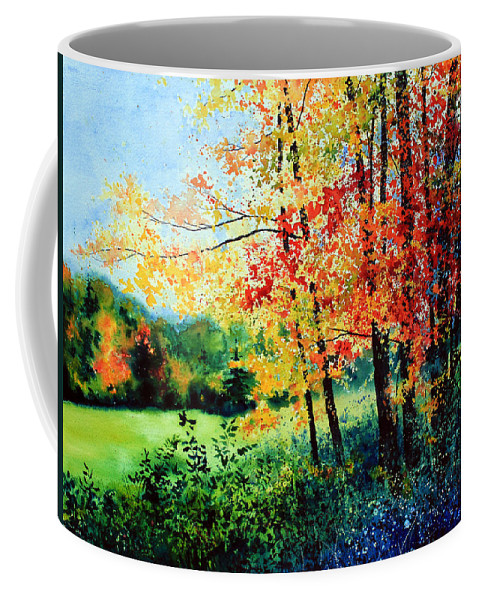 Fall Landscape Art Coffee Mug featuring the painting Fall Color by Hanne Lore Koehler