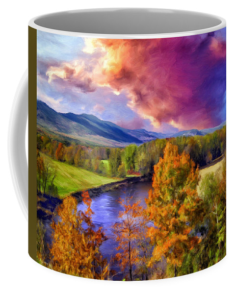 Fall Colors Coffee Mug featuring the painting Fall Colors by Dominic Piperata