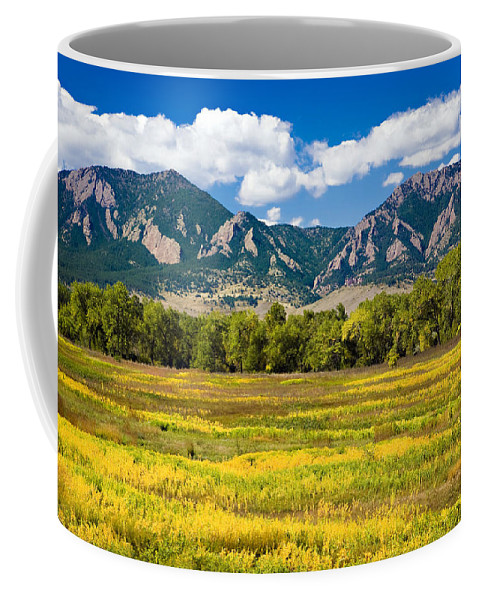 Americana Coffee Mug featuring the photograph Fall Colors of Boulder Colorado by Marilyn Hunt