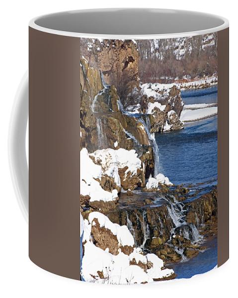 Water Coffee Mug featuring the photograph Fall Creek Falls In Winter by DeeLon Merritt