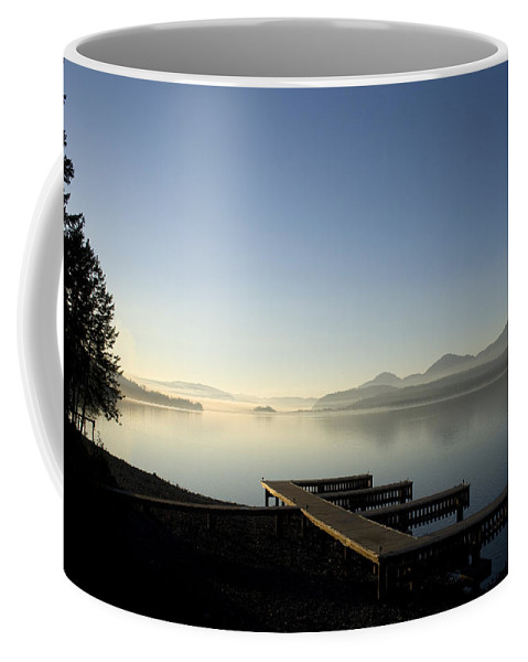 Landscape Coffee Mug featuring the photograph Fall Evening by Lee Santa