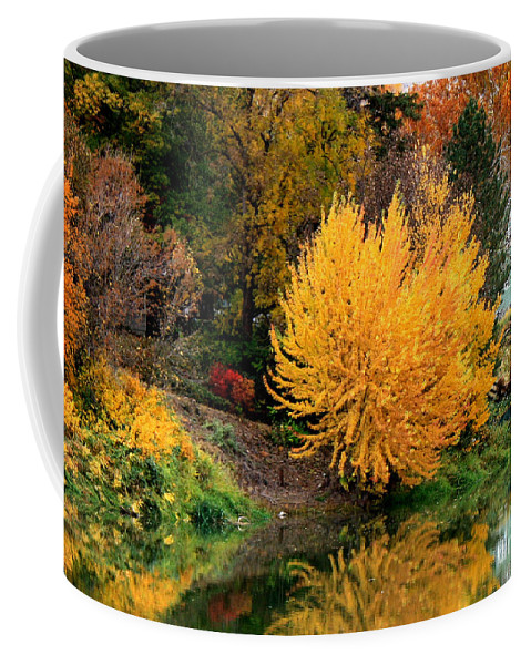 Prosser Coffee Mug featuring the photograph Fall Fireworks by Carol Groenen