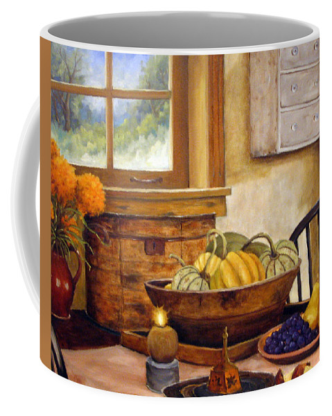 Fall Coffee Mug featuring the painting Fall Harvest by Richard T Pranke