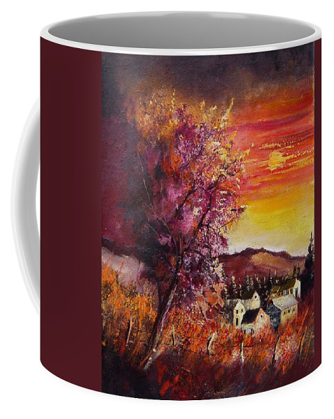 Autumn Coffee Mug featuring the painting Fall in Villers by Pol Ledent