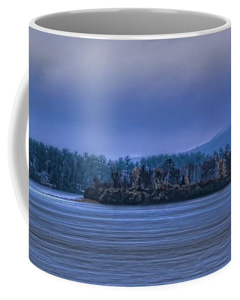 Wausau Coffee Mug featuring the photograph Fall Rainstorm Over Lake Wausau by Dale Kauzlaric
