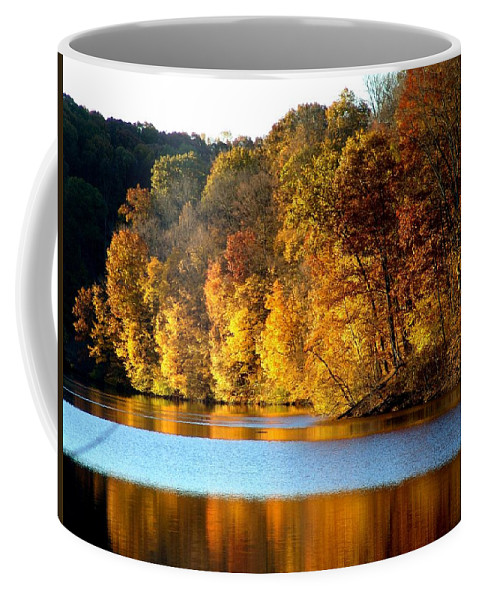 Trees Coffee Mug featuring the photograph Fall Reflections Of Indiana by Carol Milisen