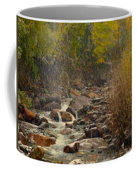 Fall Coffee Mug featuring the photograph Fall Snow Storm by Laura Ragland