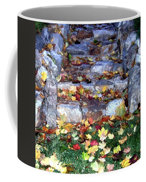 Rock Stairway Coffee Mug featuring the photograph Fall Stairway by Will Borden