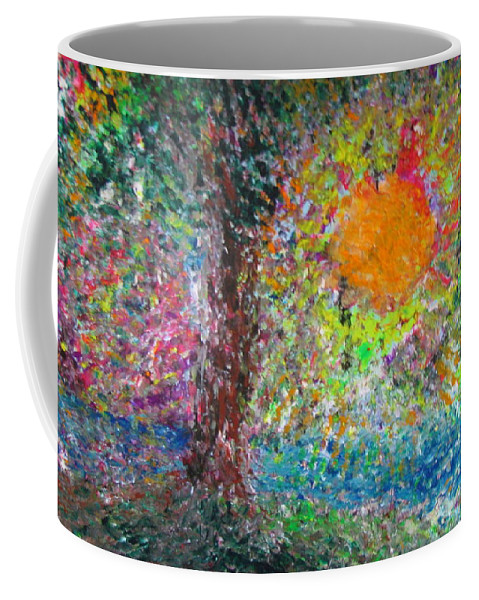 Playful Coffee Mug featuring the painting Fall Sun by Jacqueline Athmann