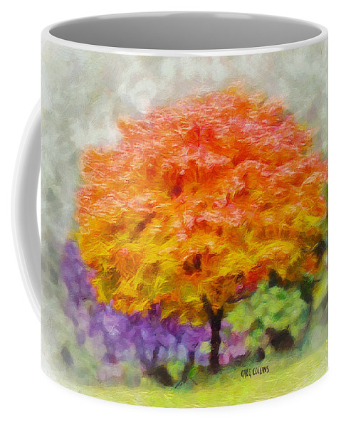 Tree Coffee Mug featuring the painting Fall Tree by Greg Collins