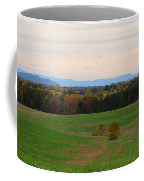Fall Coffee Mug featuring the photograph Fall View Of The Blue Ridge Mountains by Cory Berger
