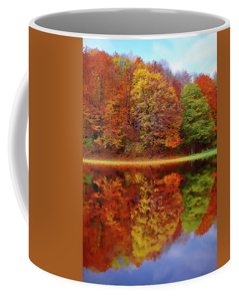 Fall Waters Coffee Mug featuring the painting Fall Waters by Harry Warrick