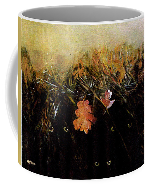 Haunting Coffee Mug featuring the painting Fall Wind Across the Meadow by Seth Weaver