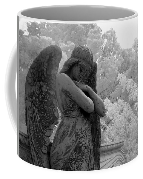 Infrared Photography Coffee Mug featuring the photograph Fallen Angel by Jane Linders