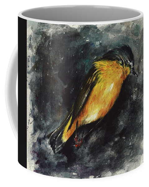 Abstract Coffee Mug featuring the painting Fallen Angel by Rachel Christine Nowicki