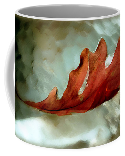 Nature Coffee Mug featuring the photograph Fallen Leaf by Linda Sannuti