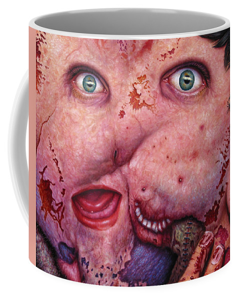 Gross Coffee Mug featuring the painting Falling Apart by James W Johnson