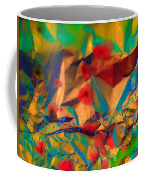 Abstract Coffee Mug featuring the painting Falling Asleep In The Poppies by Elle Justine