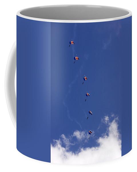 Raf Falcons Coffee Mug featuring the photograph Falling Down One By One by Angel Ciesniarska