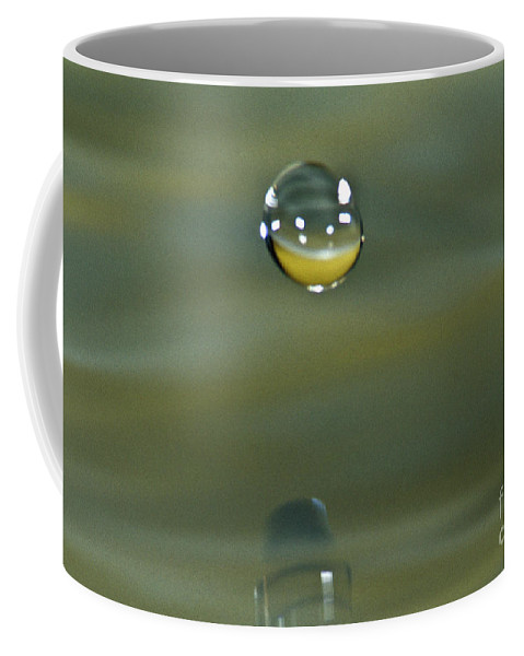 Decorative Coffee Mug featuring the photograph Falling Droplet by Heiko Koehrer-Wagner