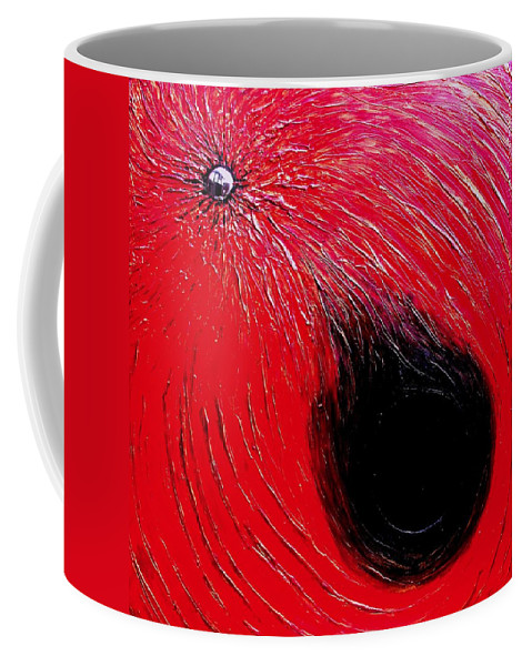 Abstract Coffee Mug featuring the painting Falling In To Passion by Ian MacDonald