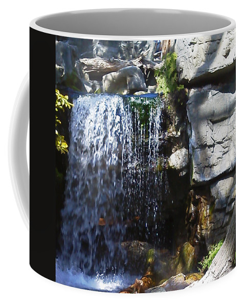 Pat Turner Coffee Mug featuring the photograph Falling Water by Pat Turner