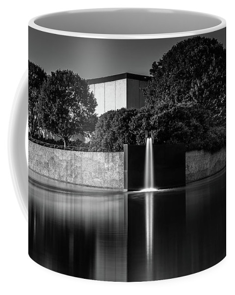 Falling Water Blank And White Peaceful Serene Coffee Mug featuring the photograph Falling Water by Scott Moore