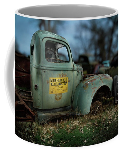 Antique Coffee Mug featuring the photograph Fallon Excavating Co. by YoPedro