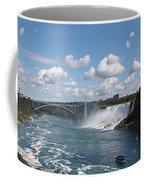 Niagara Falls Coffee Mug featuring the photograph Falls- American Side by Megan Greenfeld