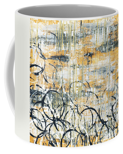 Painting Coffee Mug featuring the painting Falls Design 3 by Megan Duncanson
