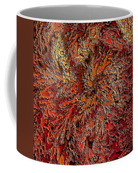 Fractal Abstract Coffee Mug featuring the digital art Fallstone by Doug Morgan
