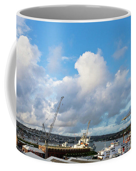 Falmouth Coffee Mug featuring the photograph Falmouth Docks Cornwall by Terri Waters