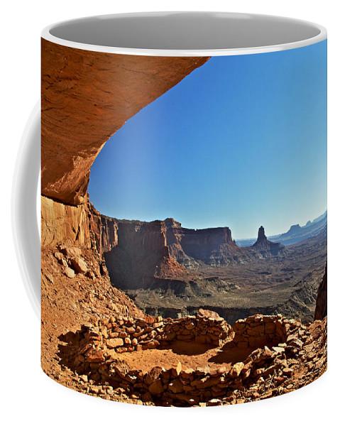 False Kive Coffee Mug featuring the photograph False Kiva Moab Utah by Daryl L Hunter