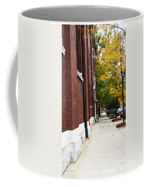 Chicago Coffee Mug featuring the digital art Familair Streets To An Old Women by Jamie Lynn