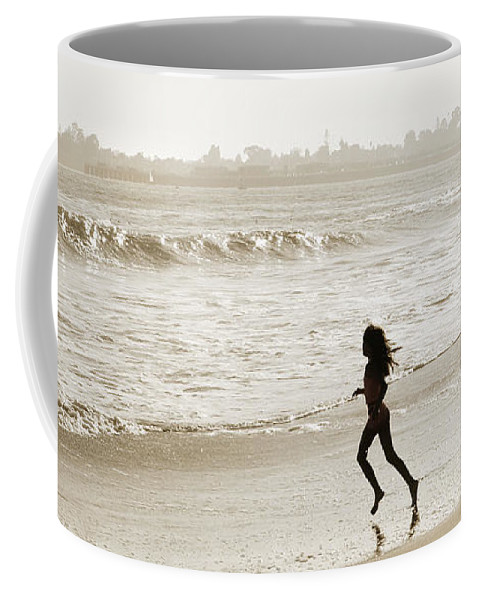 Family Coffee Mug featuring the photograph Family At Play On Beach by Marilyn Hunt