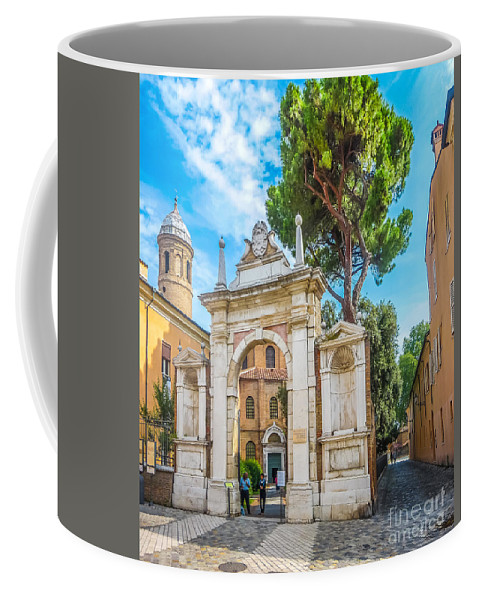 Ancient Coffee Mug featuring the photograph Famous Arc From Basilica Di San Vitale In Ravenna, Italy by JR Photography