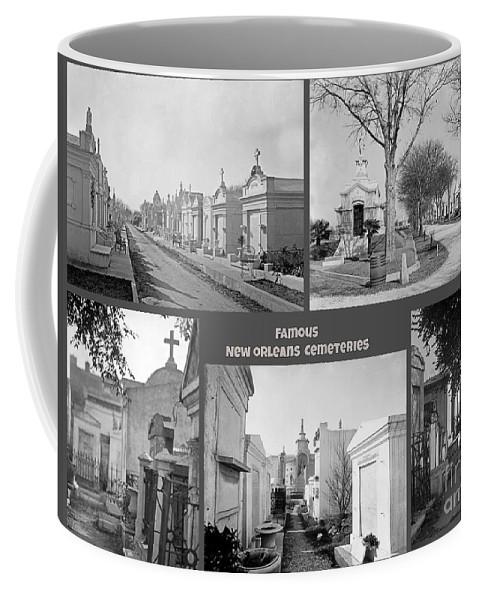 Famous New Orleans Cemeteries Coffee Mug featuring the painting Famous New Orleans Cemeteries by John Malone