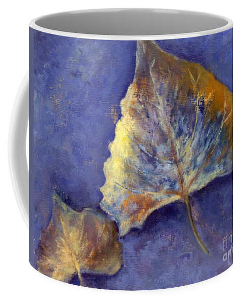 Leaves Coffee Mug featuring the painting Fanciful leaves by Chris Neil Smith