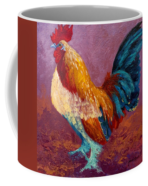 Rooster Coffee Mug featuring the painting Fancy Pants by Marion Rose