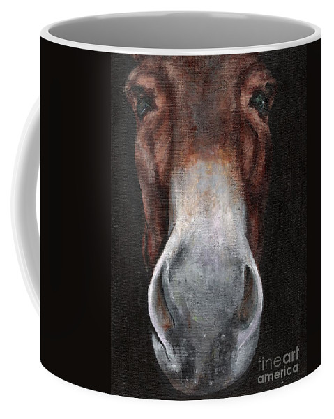Mule Coffee Mug featuring the painting Fannie by Frances Marino