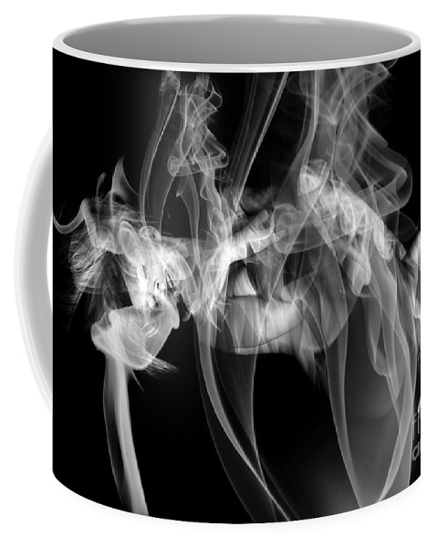 Clay Clayton Bruster Smoke Nude Art Erotic Abstract Beauty Wall Sexy Sensual Coffee Mug featuring the photograph Fantasies In Smoke Iv by Clayton Bruster