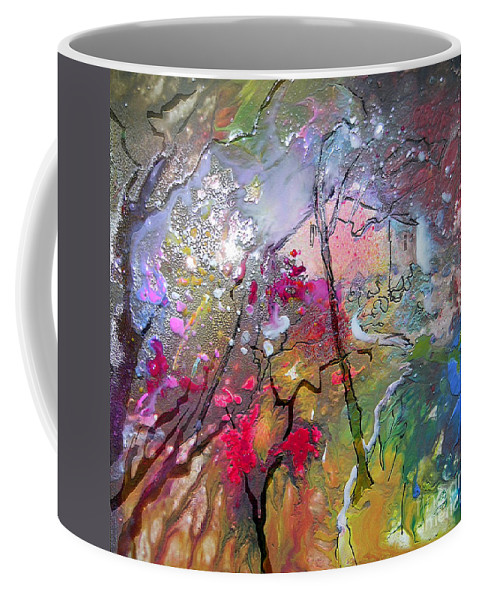 Miki Coffee Mug featuring the painting Fantaspray 19 1 by Miki De Goodaboom