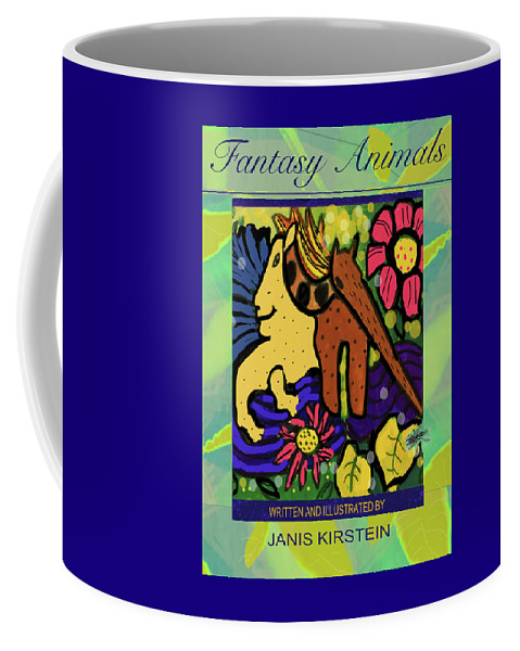 Fantasy Animals Coffee Mug featuring the digital art Fantasy Animals The Book by Janis Kirstein
