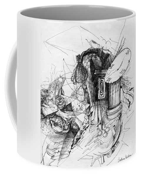 Fantasy Drawing Coffee Mug featuring the painting Fantasy Drawing 3 by Svetlana Novikova