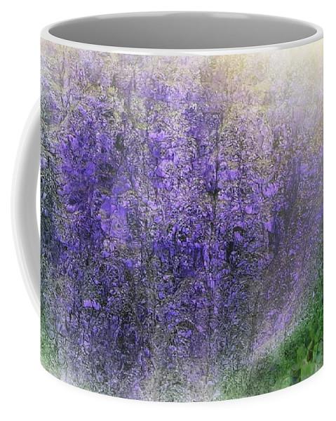 Floral Coffee Mug featuring the digital art Fantasy Floral 07-10-17 by David Lane