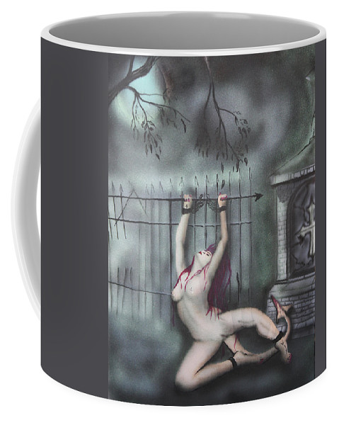 Tumb Coffee Mug featuring the painting Fantasy4 by Thomas Oliver