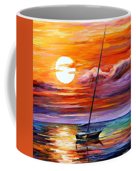 Afremov Coffee Mug featuring the painting Far And Away by Leonid Afremov
